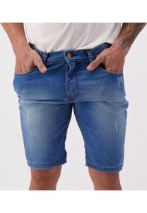 Bermuda Jeans Hd Tide Ly Masculina - Masculino-Azul