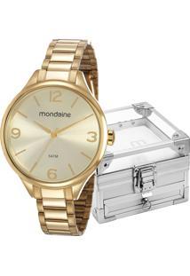 Kit Relógio Mondaine Feminino Com Porta Joias 53740Lpmgde1Kz
