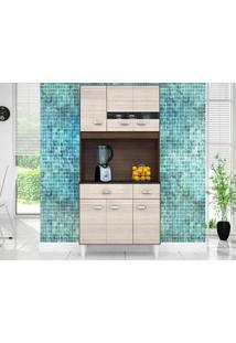 Cozinha 6 Portas Manu Capuccino/Amêndoa - Lc Móveis
