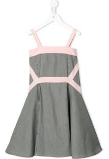 Owa Yurika Vestido Com Listras - Cinza