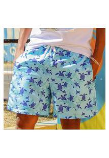 Bermuda Masculino Short Verão Estampado Praia Short Florida Premio