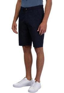 Bermuda Sarja Masculina - Masculino-Azul+Marinho