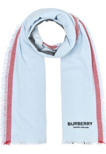 Burberry Cachecol Listrado 'Icon' - Azul