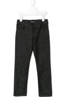 Emporio Armani Kids Calça Jeans Reta - Preto