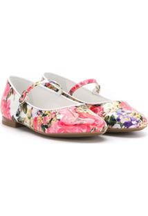 Dolce & Gabbana Kids Sapatilha Floral - Rosa