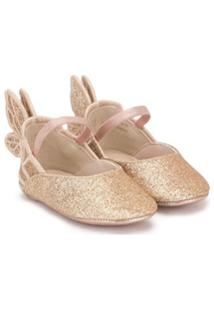 Sophia Webster Mini Chiara Embroidery Ballerinas - Dourado