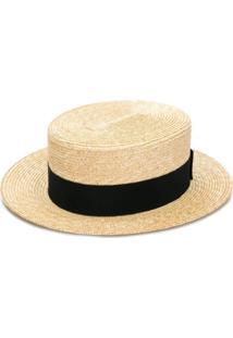 Prada Chapéu Com Padronagem - F0I55 Tan/Black
