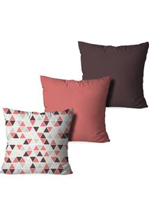 2b65a0385 Kit 3 Capas De Almofada 45X45Cm Triângulos - Love Decor