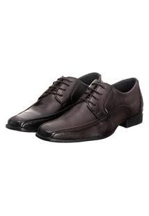 Sapato Social Masculino Cadarço Conforto Estilo Moderno Marrom Escuro 41 Marrom