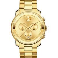 104510b29fc Vivara. Relógio Movado Masculino Aço Dourado ...