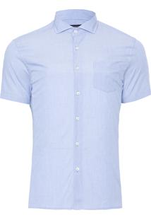 Camisa Masculina Causal Fil - Azul