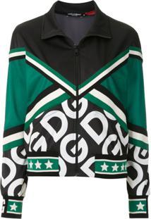 Dolce & Gabbana Jaqueta Bomber Logo Estampado - Verde