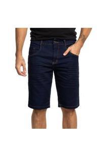 Bermuda Jeans Biotipo Básica Azul Escuro