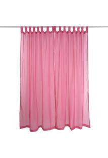 Cortina Voil Com Alça Pink 280X240