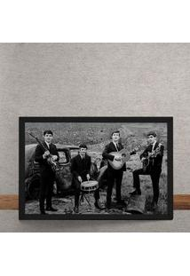 Quadro Decorativo The Beatles Fotografia Antiga 25X35