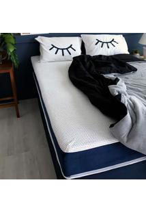 Colchão King Mola Ensacada Guldi Macio (25X193X203) Azul E Branco