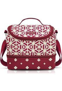 Bolsa Térmica Com 2 Compartimentos Jacki Design Bella Vitta - Unissex-Vermelho Escuro