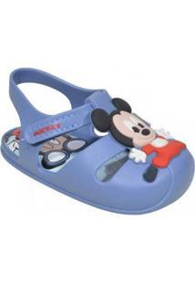 Sandalia Bebê Grendene Disney Sweet Dream Masculina - Masculino-Azul