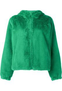 P.A.R.O.S.H. Jaqueta Dupla Face Com Pelos - Verde