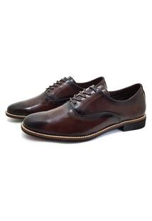 Sapato Social Inglês Couro Avalon Stone Pinhão