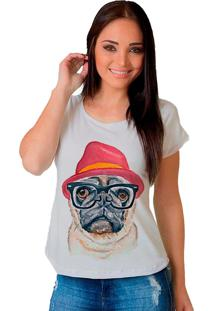 Camiseta Shop225 Dog Pug Fashion Branco