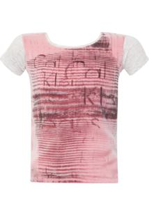 Camiseta Calvin Klein Kids Logo Multicolorida