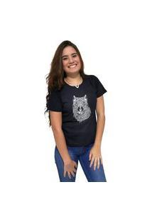 Camiseta Feminina Cellos Abstract Wolf Premium Preto