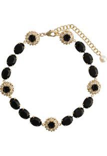 Dolce & Gabbana Colar Com Aplicação De Cristais - Preto