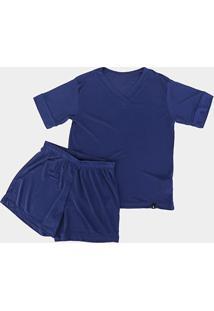 Pijama Infantil Lupo Km Poliamida Masculino - Masculino-Marinho