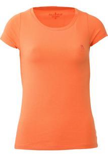 Camiseta Polo Wear Lisa Laranja