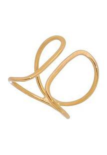 Anel Regulã¡Vel Banhado Ouro- Dourado- Regulã¡Vel-Isabela Borgonian