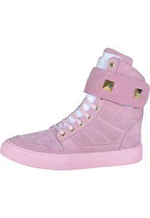 Sneaker Fitness Cheia De Marra 1003 Rosa - Kanui