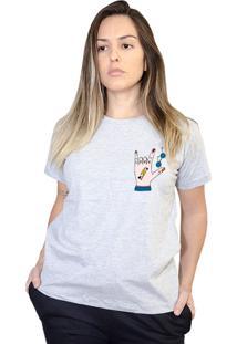 Camiseta Boutique Judith Love Rock Cinza