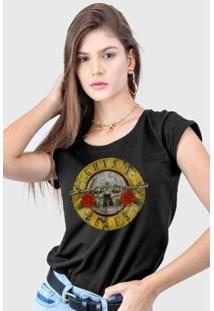 Camiseta Bandup! Guns N' Roses Logo Bullet Feminina - Feminino