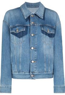 Mm6 Maison Margiela Two-Tone Denim Jacket - Azul