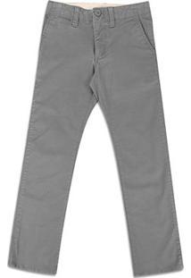 Calça Infantil Sarja Gap Fashion - Masculino-Cinza