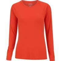 Camiseta Manga Longa Com Proteção Solar Uv50+ Oxer Custom - Feminina -  Laranja Esc Prata 6697d4c962301
