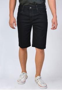 Bermuda Jeans Slim Preta Yck'S - Kanui