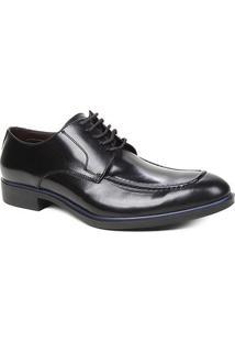 Sapato Social Couro Shoestock Clássico Cadarço Masculino - Masculino-Preto
