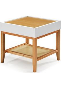 Mesa Lateral Duo Cor Natural Com Bege - 29847 Sun House