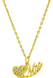 Gargantilha Horus Import Mãe Banhada Ouro Amarelo 18 K - 1061155