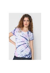 Camiseta Gap Tie Dye Branca/Roxa