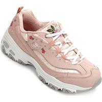 6aaf018f13c Tênis Skechers Floral Feminino - Feminino-Rosa Claro