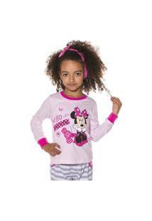 Pijama Infanitl Feminino Minie Disney