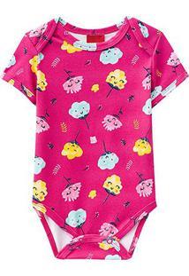 Body Bebê Kyly Cotton Estampado Feminino - Feminino-Rosa