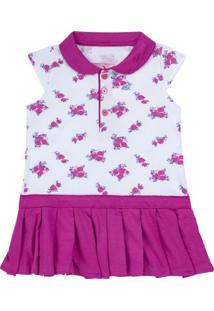 Vestido Com Golinha Em Piquet Mimme - Missfloor 13Cg0001.505 Vestido M/C Com Gola Visconfort Pink-2