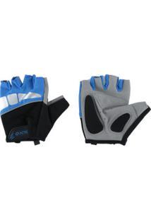 Luvas Para Academia E Ciclismo Acte Sports A43 - Adulto - Azul/Preto