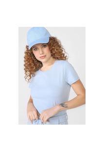 Camiseta Basicamente. Lisa Azul