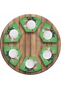 Jogo Americano Love Decor Para Mesa Redonda Wevans Cute Noel Green Kit Com 6 Pçs