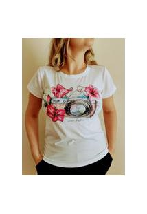 Tshirt Blusinha Feminina Larguinha Com Pedraria - Aplicações
